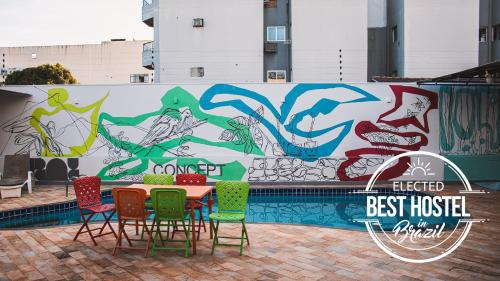 The swimming pool at or close to Concept Design Hostel & Suites