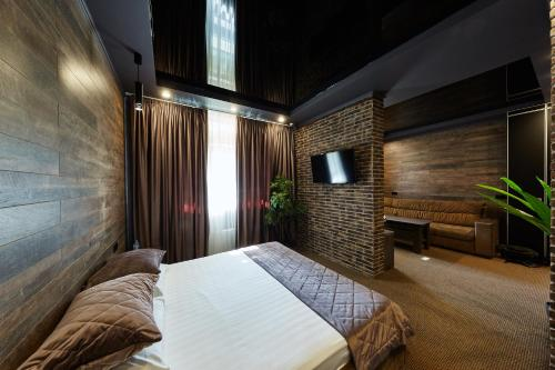 A bed or beds in a room at Moscotel