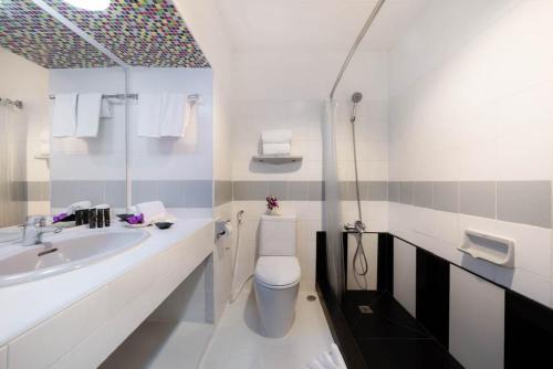 A bathroom at Furama Silom Hotel