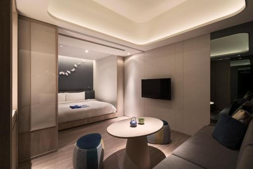 A television and/or entertainment center at Wellspring by Silks