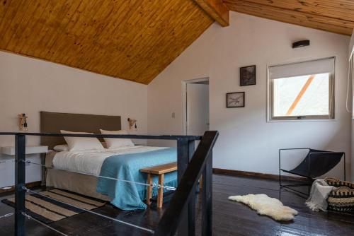 Cama ou camas em um quarto em Complejo Odella Casas de Montaña