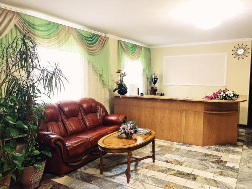 """The lobby or reception area at Гостиница """"Адонис"""""""