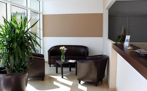 The lobby or reception area at Pension B&M
