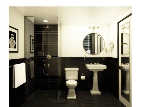 A bathroom at The Dean Hotel