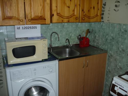 Кухня или мини-кухня в Apartment on Lensoveta