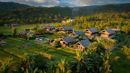 Vue panoramique sur l'établissement Sanak Retreat Bali