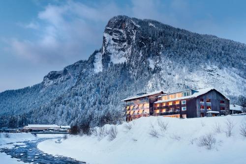 L'établissement Hotel Krone in Au en hiver