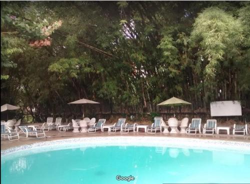 The swimming pool at or near Hotel Avila