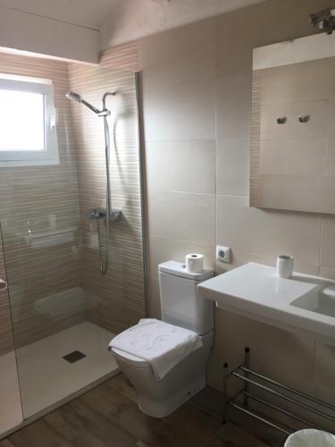 A bathroom at Agroturismo Binissafullet Vell