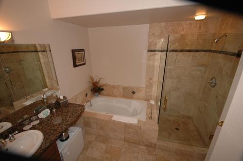 A bathroom at The Oceanfront Hotel on MiramarBeach HMB
