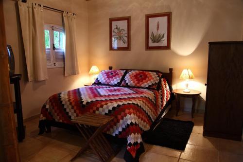 Cama ou camas em um quarto em Hotel Fazenda São Francisco
