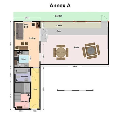 The floor plan of Glendower Guest Apartments
