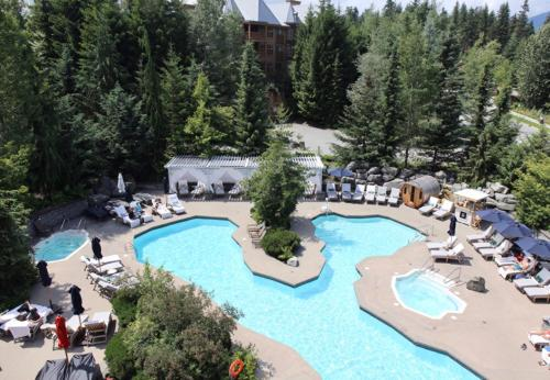 A view of the pool at Four Seasons Resort Whistler or nearby