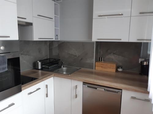 Kuchnia lub aneks kuchenny w obiekcie Apartament-Studio Polana Szaflarska