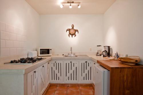 A kitchen or kitchenette at Playa Grande Hotel and Villas