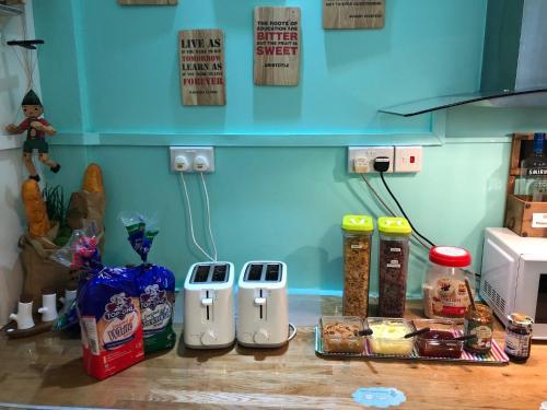 Küche/Küchenzeile in der Unterkunft Dream Lodge