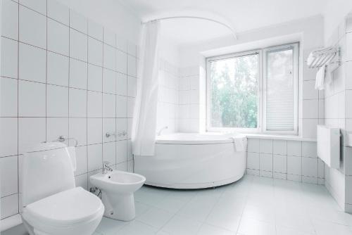 Ванная комната в Гостиница Октябрьская
