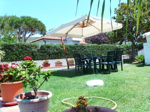 A garden outside Villino Rosalia