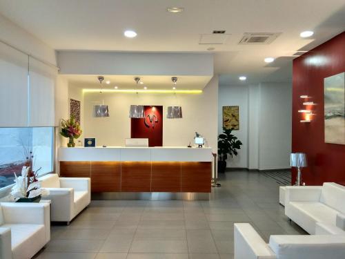 Lobbyn eller receptionsområdet på Mena Plaza