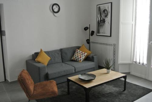 A seating area at Urban Luxury Apartment Salerno