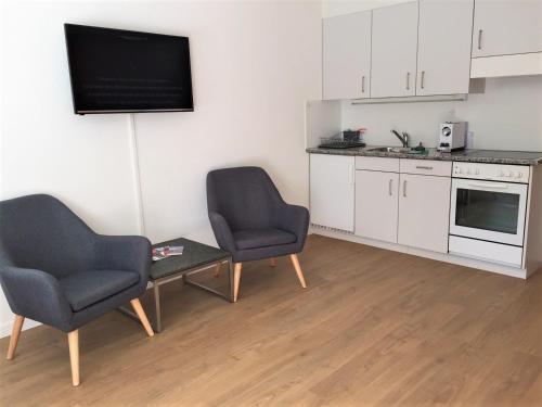 Ein Sitzbereich in der Unterkunft Studio Riedwiese