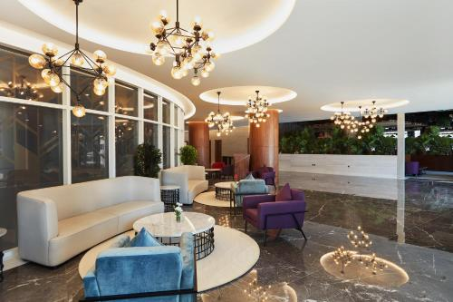 The lobby or reception area at Park Regis Business Bay