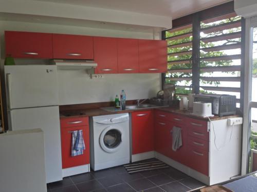 A cozinha ou cozinha compacta de Toupidek-sur-la-Plage