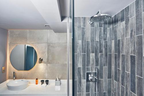 A bathroom at Malmaison Edinburgh City