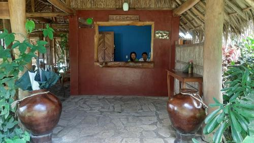 The lobby or reception area at Totoco Eco-lodge