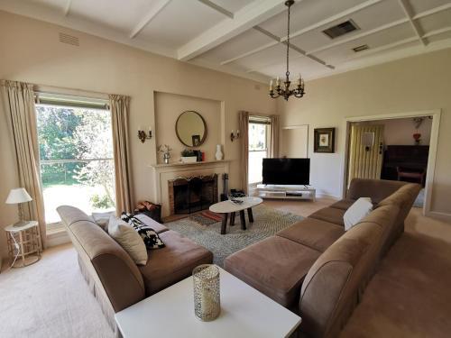 A seating area at Lake House Benalla