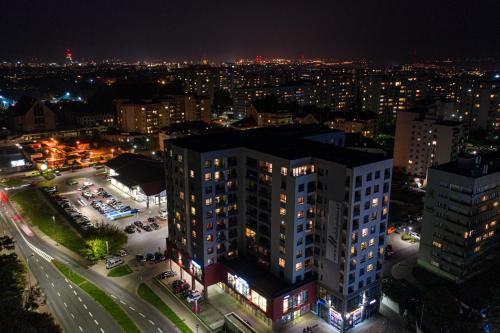 Widok z lotu ptaka na obiekt Livin Premium Apartments