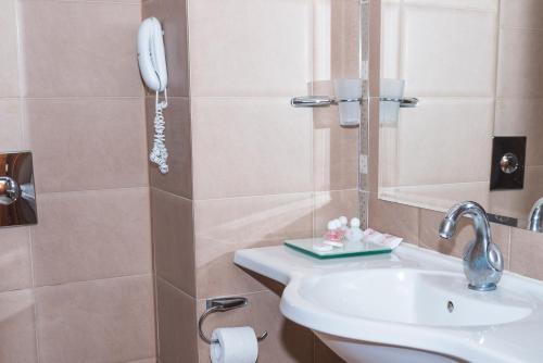 A bathroom at Hotel Burgas