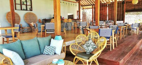 A restaurant or other place to eat at Segara Lombok