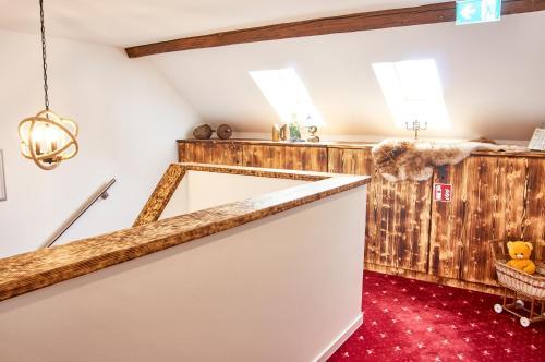 """Ein Badezimmer in der Unterkunft """"Alte Pension"""" Bautzen"""