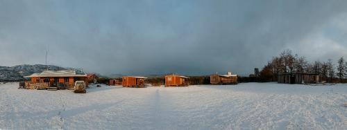 Konkashken Lodge durante o inverno
