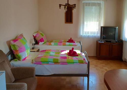 A bed or beds in a room at alpha-spot :: Erlenmoos
