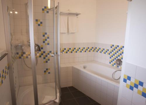 Ein Badezimmer in der Unterkunft Sporthotel Grünberg