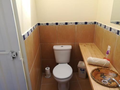A bathroom at Colibrí Camping