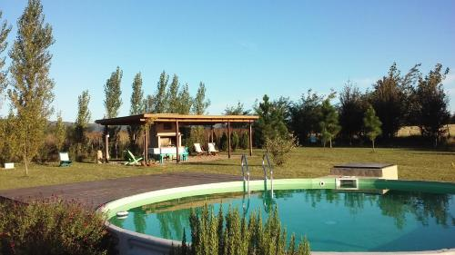 The swimming pool at or near Refugio Del Guira Guira