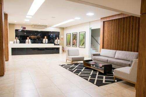 The lobby or reception area at Hotel Vale Verde