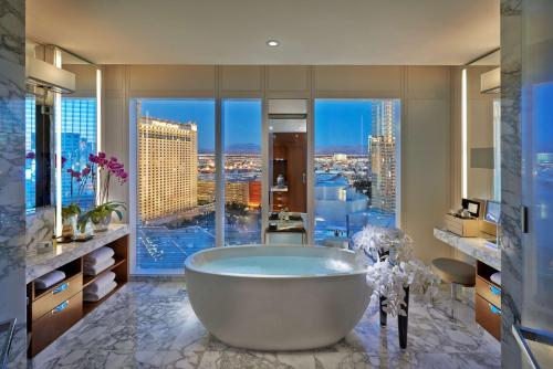 A bathroom at Waldorf Astoria Las Vegas