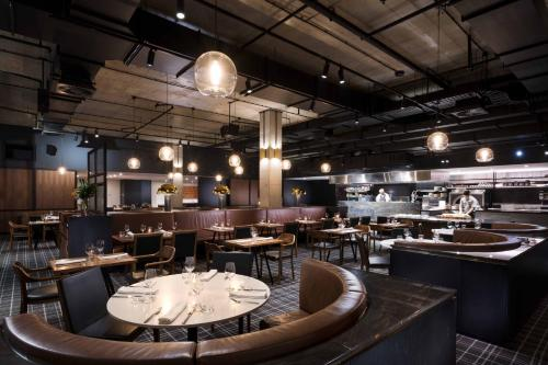 A restaurant or other place to eat at Hilton Adelaide