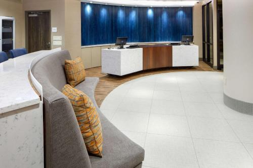 A television and/or entertainment center at The Lodge at Duke Medical Center