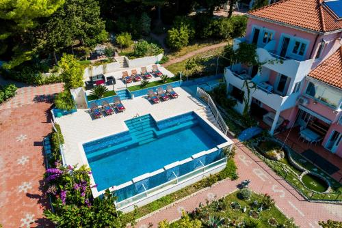A bird's-eye view of Villa Brasina