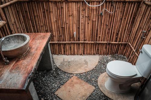 A bathroom at Freedom Society