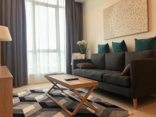 A seating area at Sutera Avenue Deluxe Suite by CozyCottage x Merveille @ Kota Kinabalu, Sabah