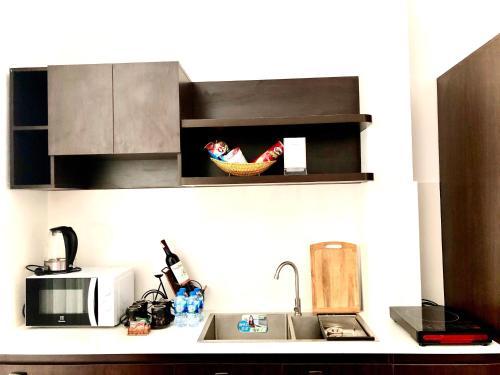 Küche/Küchenzeile in der Unterkunft Riverside Impression Villa