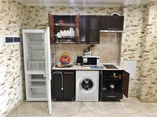 Кухня или мини-кухня в Апартаменты на ул. Ленина 219/35