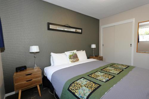 Un ou plusieurs lits dans un hébergement de l'établissement Aden Motel