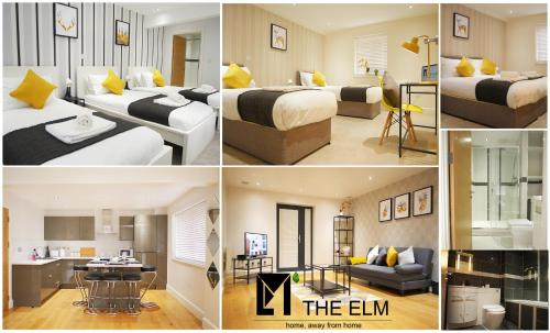 A restaurant or other place to eat at The Elm Serviced Apartments Camberley